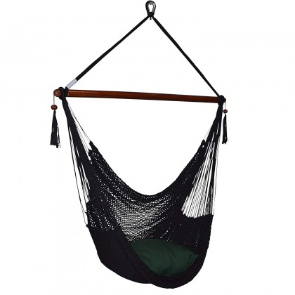 CARIBBEAN HAMMOCK CHAIR LARGE (Black) - from Hammocks of Americas