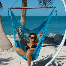 Caribbean large hammock chair (Light Blue) - from your hammocks shop in USA