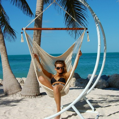CARIBBEAN HAMMOCK CHAIR LARGE (Cream) - from Hammocks of Americas
