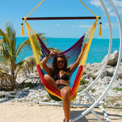 Caribbean large hammock chair (Rainbow) - from your hammocks shop in USA