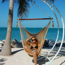 Caribbean large hammock chair (Tan) - from your hammocks shop in USA