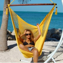 Caribbean large hammock chair (Yellow) - from your hammocks shop in USA