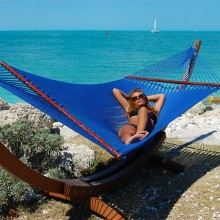 Caribbean jumbo hammock (Blue) - from Hammocks of Americas