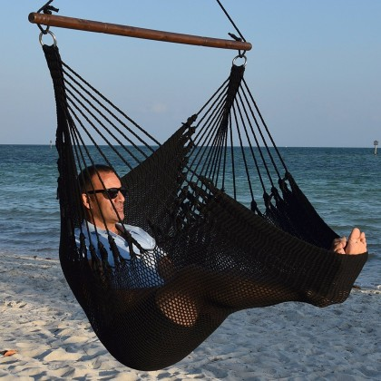 Caribbean jumbo hammock chair (Black) - from your hammocks shop in USA
