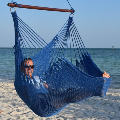 Caribbean jumbo hammock chair (Blue) - from your hammocks shop in USA