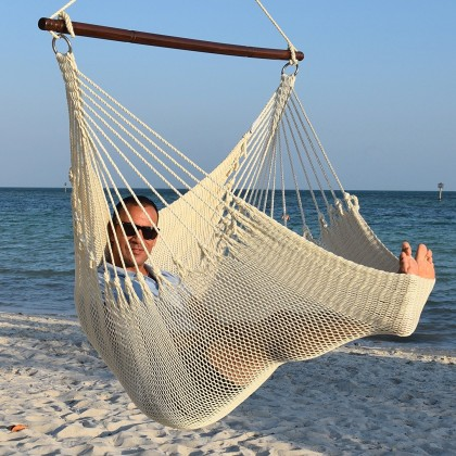 Caribbean jumbo hammock chair (Cream) - from Hammocks of Americas
