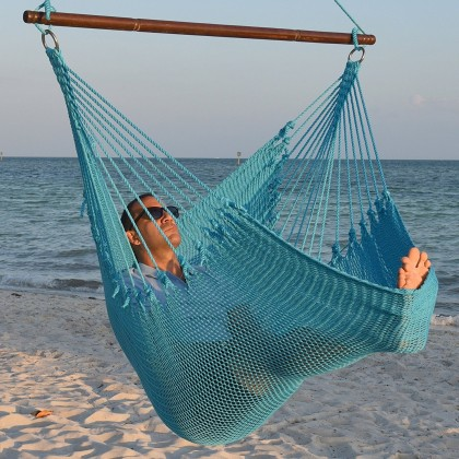 Caribbean jumbo hammock chair (Light-Blue) - from your hammocks shop in USA