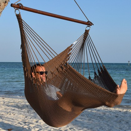Caribbean jumbo hammock chair (Mocha) - from your hammocks shop in USA
