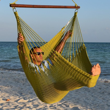 Caribbean jumbo hammock chair (Olive) - from your hammocks shop in USA
