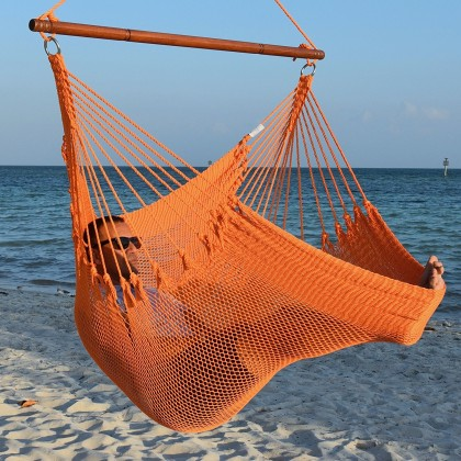 Caribbean jumbo hammock chair (Orange) - from your hammocks shop in USA