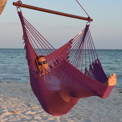 Caribbean jumbo hammock chair (Purple) - from your hammocks shop in USA