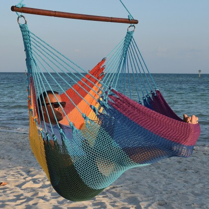 Caribbean jumbo hammock chair (Rainbow) - from your hammocks shop in USA