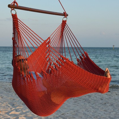 Caribbean jumbo hammock chair (Red) - from your hammocks shop in USA