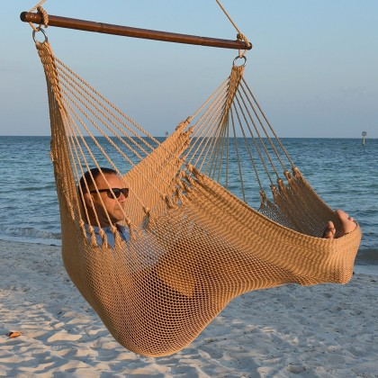 Caribbean jumbo hammock chair (Tan) - from your hammocks shop in USA