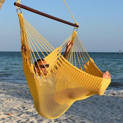 Caribbean jumbo hammock chair (Yellow) - from your hammocks shop in USA