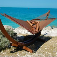 Caribbean jumbo hammock (Mocha) - from Hammocks of Americas