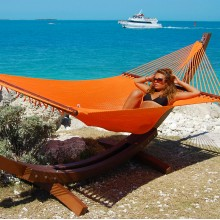 Caribbean jumbo hammock (Orange) - from Hammocks of Americas