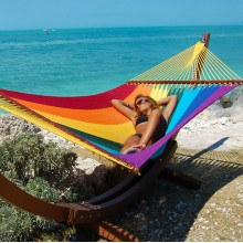 Caribbean jumbo hammock (Rainbow) - from Hammocks of Americas