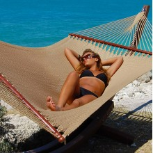 Caribbean jumbo hammock (Tan) - from Hammocks of Americas