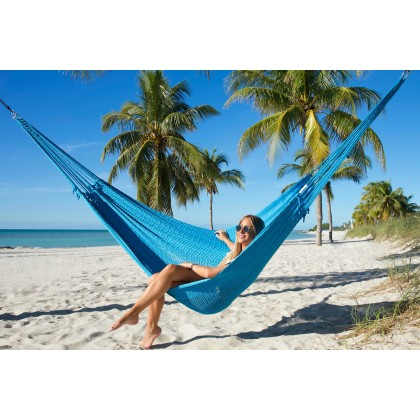 Caribbean mayan hammock (Light Blue) - from your hammocks shop in USA