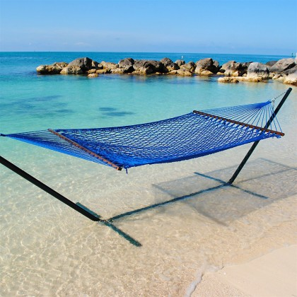 Caribbean Rope Hammocks (Coastal Blue) - from your hammocks shop in USA
