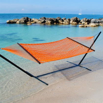 Caribbean Rope Hammocks (Orange) - from your hammocks shop in USA