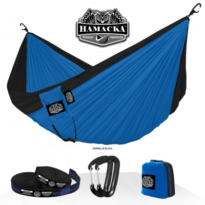 Travel hammock set (Dark blue-black) Hamacka - from your hammocks shop in USA
