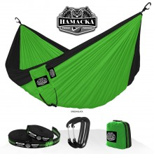 Travel hammock set (Green-black) Hamacka - from your hammocks shop in USA