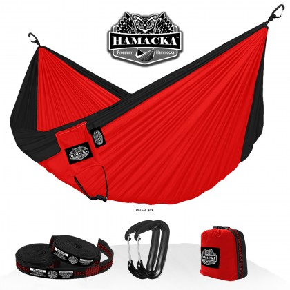 Travel hammock set (Red-black) Hamacka - from your hammocks shop in USA