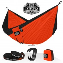 Travel hammock set (Tangerine-black) Hamacka - from your hammocks shop in USA