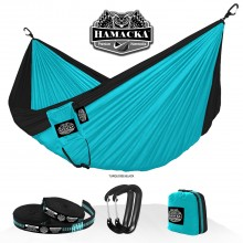 Travel hammock set (Turquoise-black) Hamacka - from your hammocks shop in USA