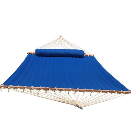 Olefin Kingsize Quilted Hammock with Matching Pillow (Light-Blue)
