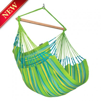 La Siesta Hammock Chair Large (Domingo Lime) - from Hammocks of Americas