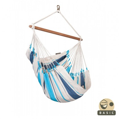 """Hammock Chair"" Basic Caribeña Aqua Blue - By the hammocks store of Americas"