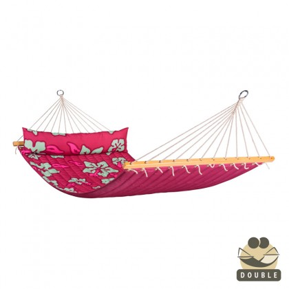"""Double Hammock"" with bars Hawaii Hibiscus - By the hammocks store of Americas"