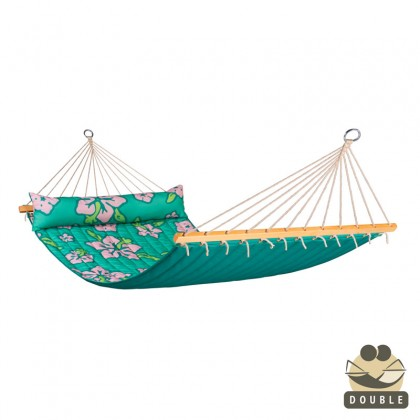 """Double Hammock"" with bars Hawaii Palm - By the hammocks store of Americas"