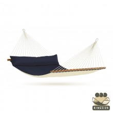 """Hammock with spreader bars"" Kingsize Alabama Navy-Blue - By the hammocks store of Americas"