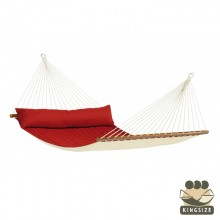 """Hammock with spreader bars"" Kingsize Alabama Red-Pepper - By the hammocks store of Americas"