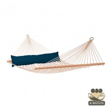 """Hammock with spreader bars"" Kingsize CALIFORNIA Navy-Blue - By the hammocks store of Americas"