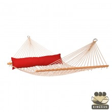 """Hammock with spreader bars"" Kingsize CALIFORNIA Red-Pepper - By the hammocks store of Americas"