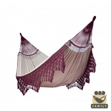 """Family hammock"" Bossanova Bordeaux - By the hammocks store of Americas"