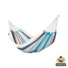 """Single hammock"" Caribeña Aqua Blue - By the hammocks store of Americas"