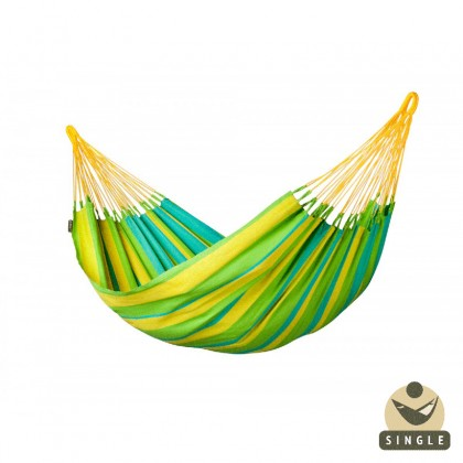 """Single hammock"" Sonrisa Lime - By the hammocks store of Americas"