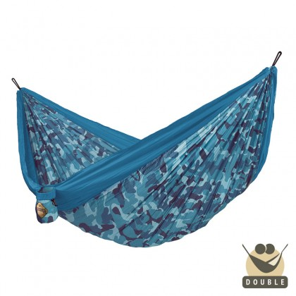 """Double hammock"" for travel Colibri CAMO River - By the hammocks store of Americas"