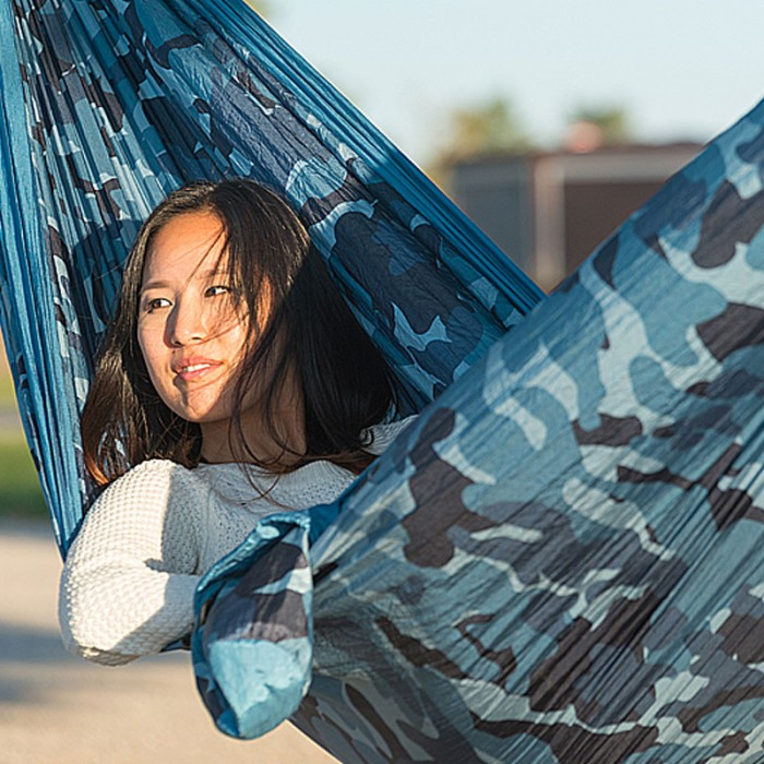 Quot Double Hammock Quot For Travel Colibri Camo River By The