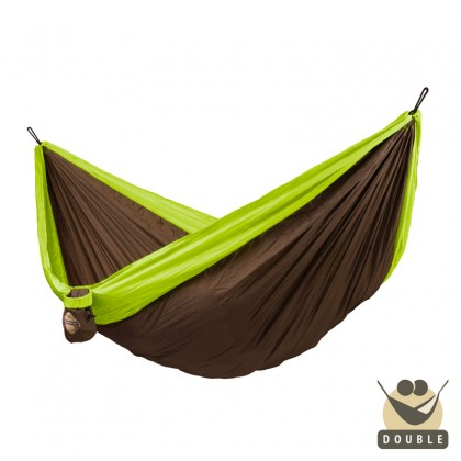 """Double hammock"" for travel Colibri Green - By the hammocks store of Americas"