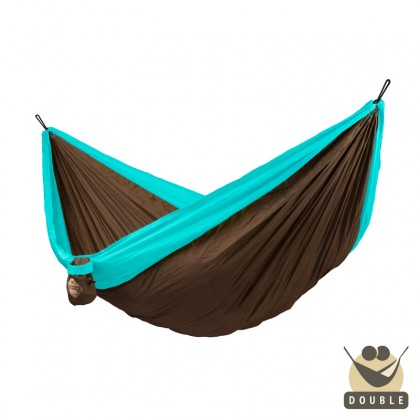 """Double hammock"" for travel Colibri Turquoise - By the hammocks store of Americas"