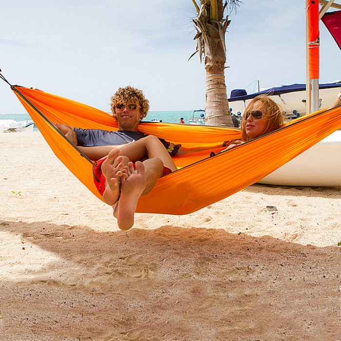 """Single hammock"" for travel Colibri Orange - By the ..."