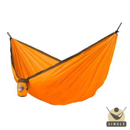 """Single hammock"" for travel Colibri Orange - By the hammocks store of Americas"