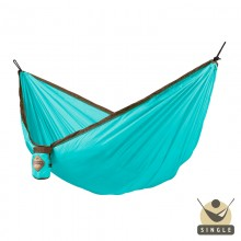 """Single hammock"" for travel Colibri Turquoise - By the hammocks store of Americas"